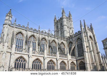 Bath Abbey Architecture Somerest Engalnd