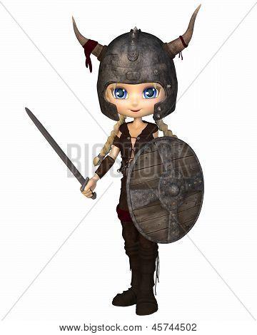 Toon Viking Warrior Girl