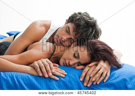 Couple In Love Sleeping