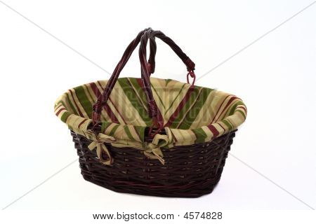 Cane Basket With Handles Up