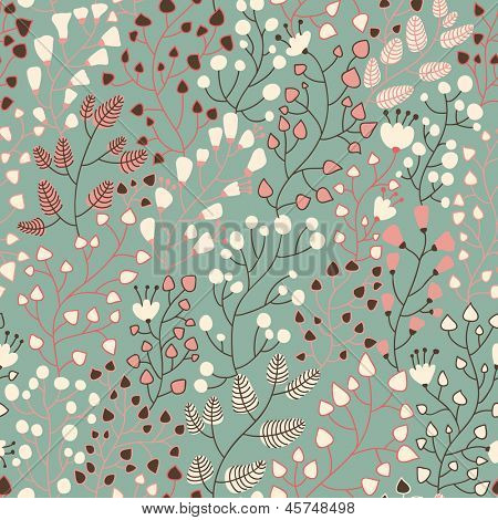 Stylish floral seamless pattern in vector. Seamless pattern can be used for wallpapers, pattern fills, web page backgrounds,surface textures. Gorgeous seamless floral background