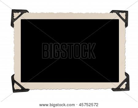 Blank Photo Frame With Corner Tabs