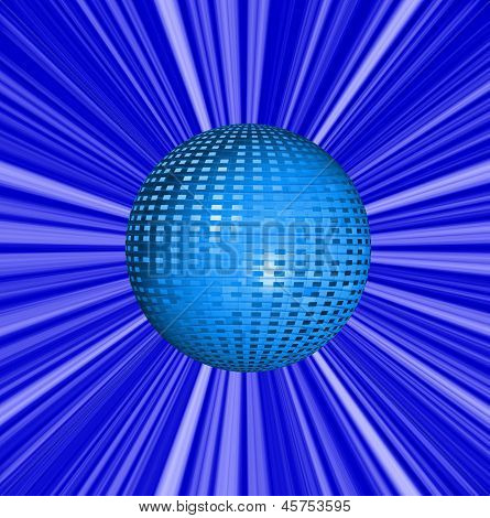 Abstract  Blue Background And Ball