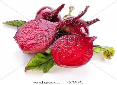 Beet roots isolated on white background.