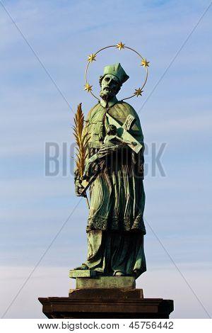 Statue of St. John of Nepomuk, Karluv Bbridge in Prague