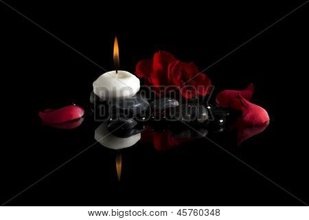 candle stones flower
