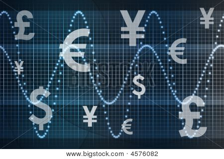 Futuristic World Currencies Business Abstract Background