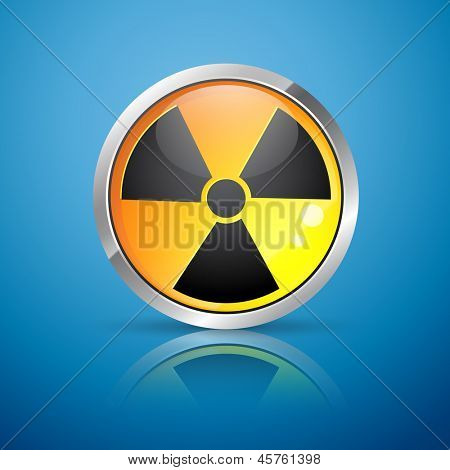 vector nuclear radiation hazard sign