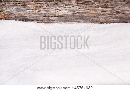 Sand And Driftwood As Background