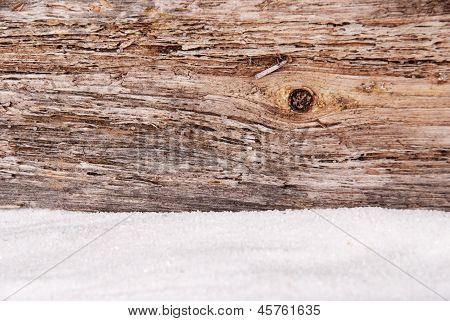 Wood And Sand As Background