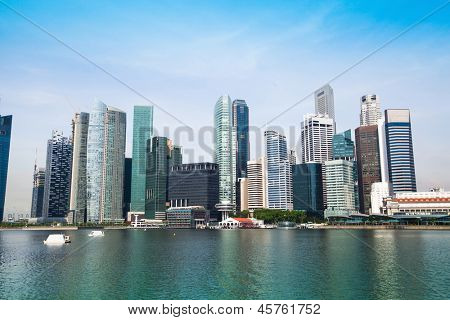 Panorama of downtown Skyline Singapore