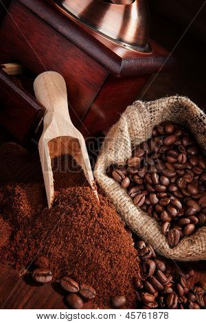 Dark Brown Coffee Background.
