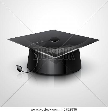 vector illustration of graduation cap