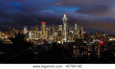 Seattle in the Evening