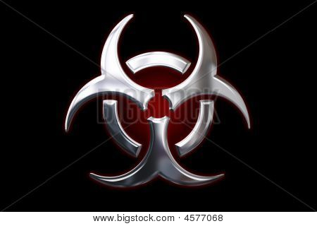 Biohazard Metallic Sign