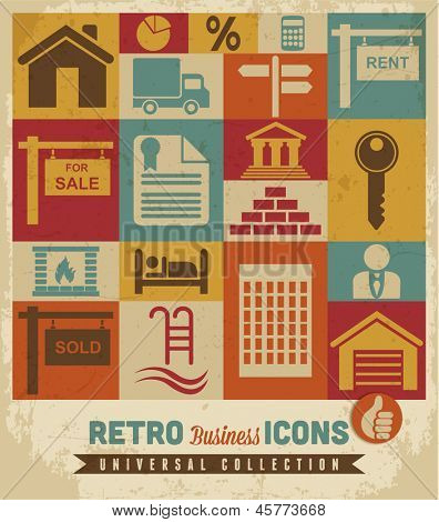 Real estate icons set.Vector
