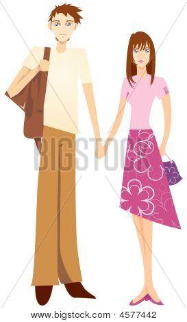 Sweet Couple Holding Hand