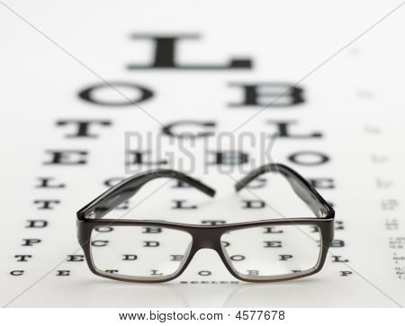 Classical Spectacle On Eye Chart