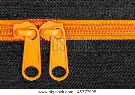 Close Up Shot Of Zipper