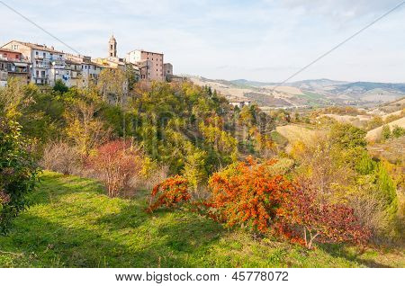 Sassocorvaro And The Marches' Hills In Italy