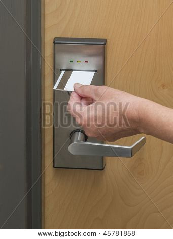 Keycard to locked hotel room