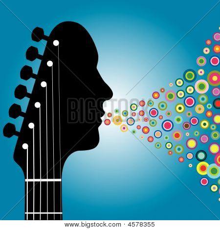 Guitar Headstock Man
