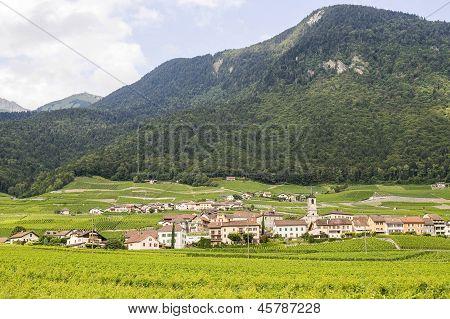 Village In Valais (switzerland)