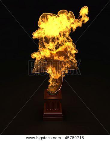 Golden Star Award In The Fire