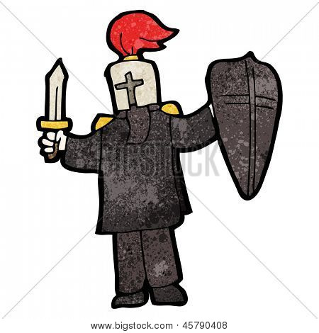 cartoon black knight