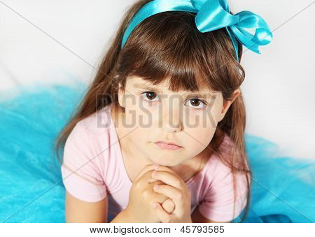 Aggrieved Girl Portrait