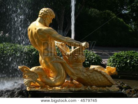Fountain Triton At The Peterhof