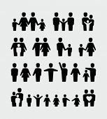 stock photo of homosexual  - Family icons - JPG