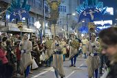 GRANADA, SPAIN - JANUARY 5: Celebration of Three Kings' Day in Granada, Spain on January 5, 2013. Sw