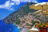 beautiful Positano - scenic Amalfi coast. Italy