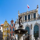 The Neptune fountain, Gdansk