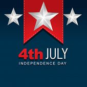 picture of election campaign  - stylish american independence day design - JPG