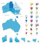 stock photo of political map  - Australia - JPG