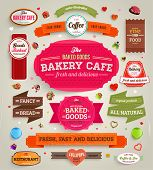 stock photo of cupcakes  - Set of retro bakery labels - JPG
