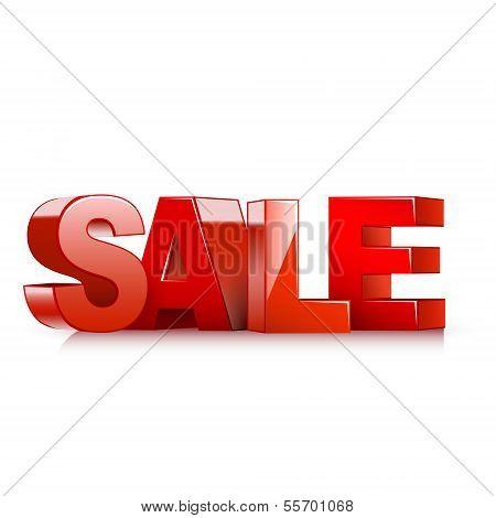 3D rot Text-Verkauf