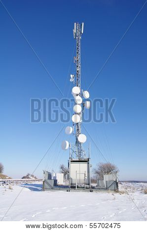 Antenna Transmitter In The Field