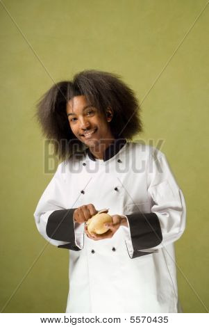 Happy Young African American Chef