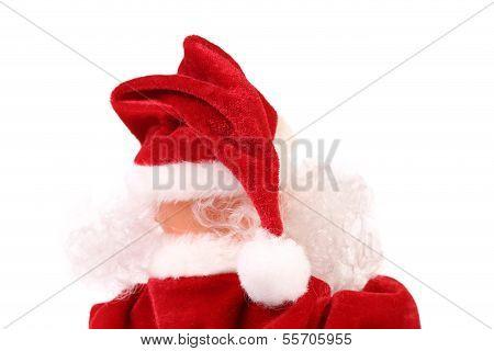 Spitze des Santa Claus. hintere Ansicht.