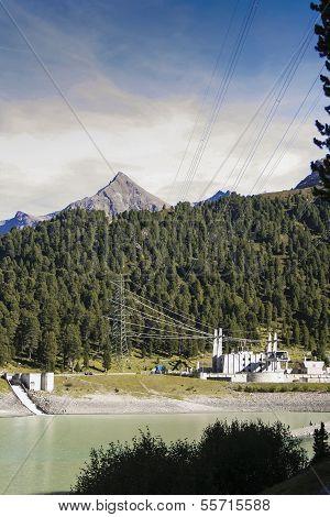 Power Station Of Reservoir Laengental