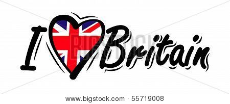 I Love Britain vector