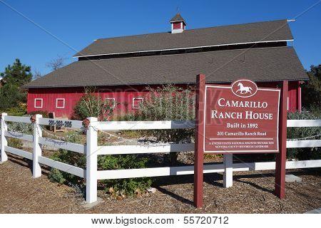 Historic Ranch house of Adolfo Camarillo