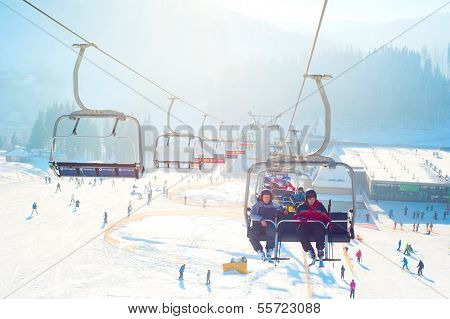 Ski-lift In Bukovel