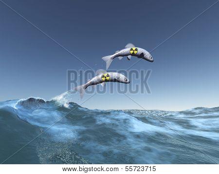 Radioactive fish