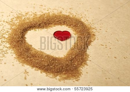 Valentines Day, Heart Made Of Brawn Sugar