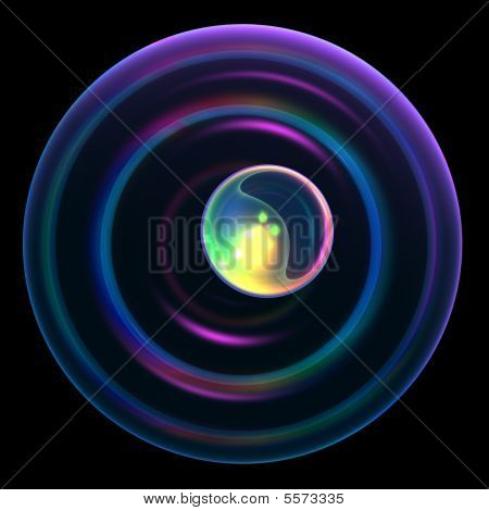 Abstract Technology Black Background