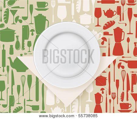 Italian restaurant menu and poster design
